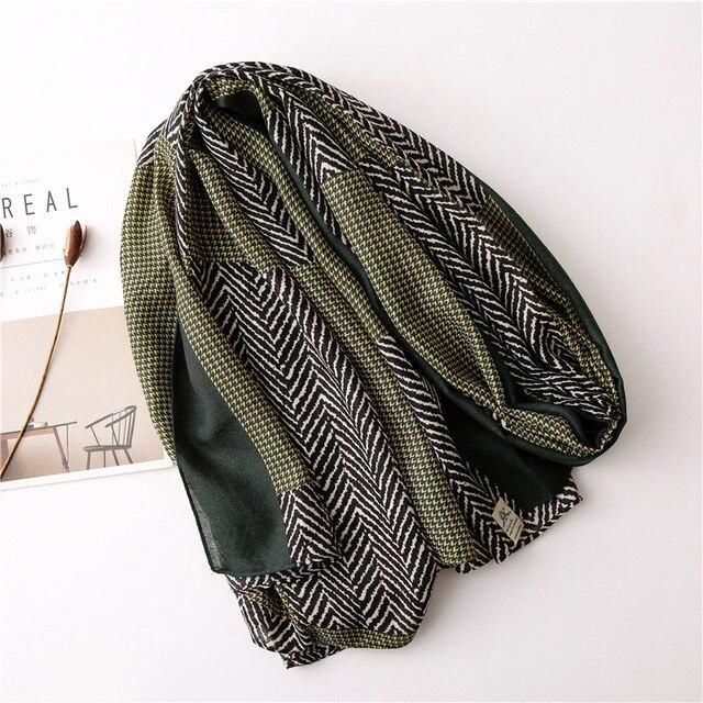 New 2020 desigual cotton Women Print Scarf Bandana Hijab Foulard Scarves cachecol pashmina long poncho femme shawl bandanas 5
