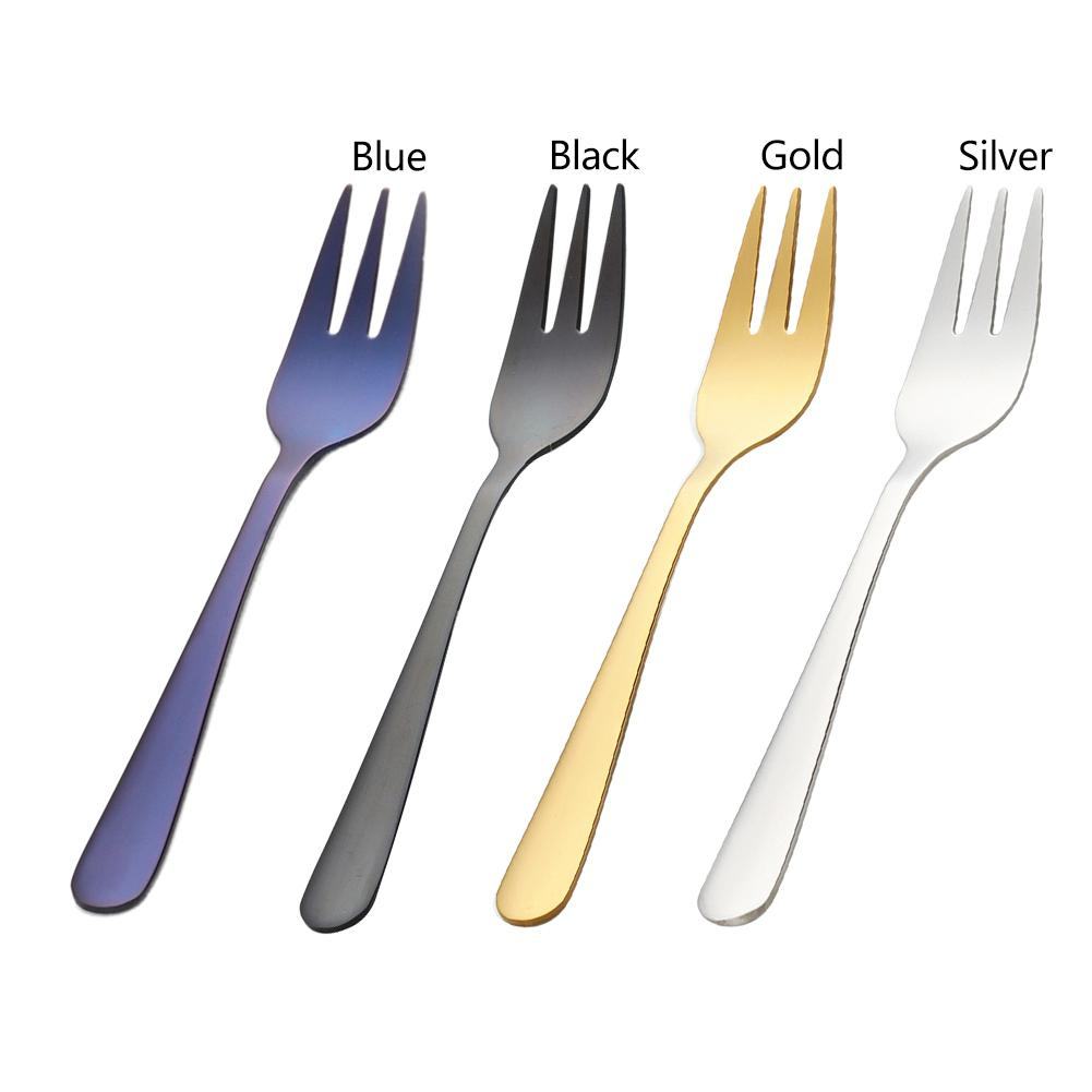 1PC Stainless Steel Dinnerware Flatware Dessert Fork Luxury Cutlery Teaspoon Cake Fork Kitchen Tools Hotel Supplies
