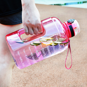 Image 5 - QuiFit 128oz 73oz 43oz Sport Big Gallon Water Bottle With Filter Net Fruit Infuse BPA Free My Drink Bottles Jug Gourd Gym Hiking