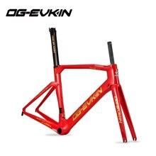 OG EVKIN CF 017 פחמן כביש אופני מסגרת UD BB386 מבריק אופניים פחמן מסגרת כביש Di2 ומנגנון מסגרות