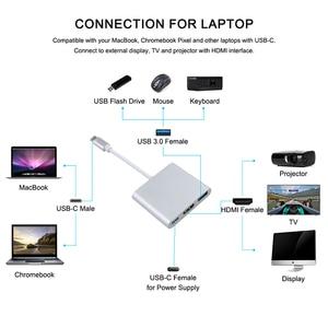 Image 3 - Thunderbolt 3 محول USB نوع C Hub إلى HDMI 4K دعم سامسونج Dex وضع USB C Doce مع PD لماك بوك برو/الهواء 2019