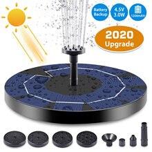 Pompe de fontaine solaire flottante 5V 3.5W, Kit de fontaine avec batterie Rechargeable pour jardin extérieur, étang et piscine