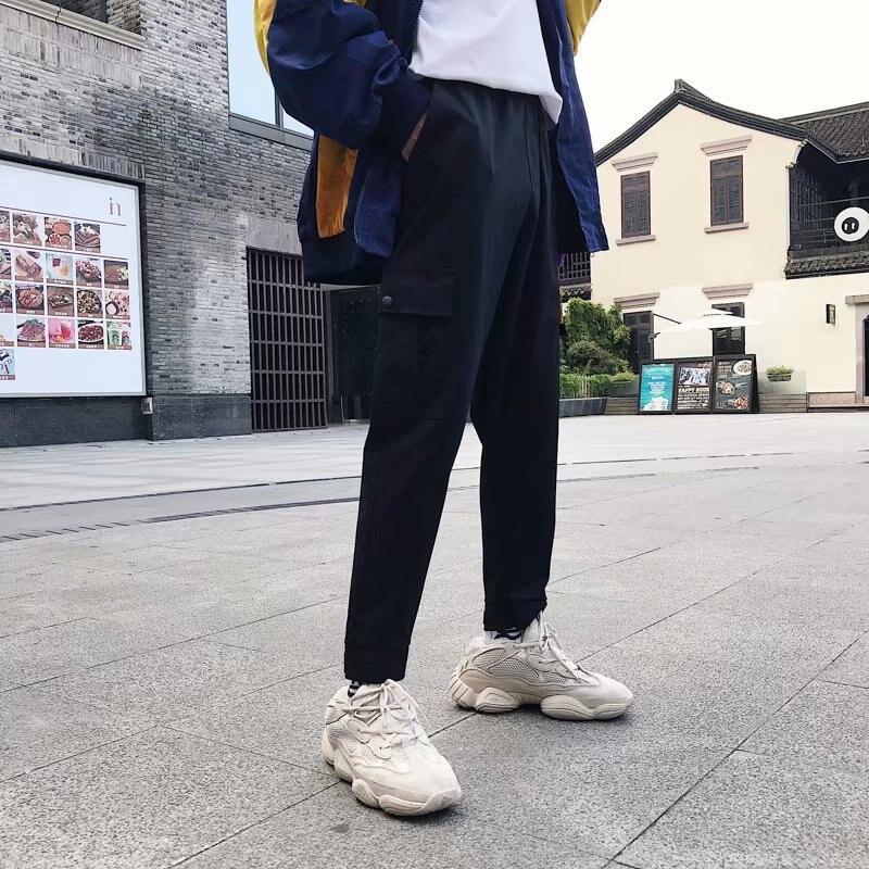 Pants Men's Korean-style Fashion Athletic Pants Capri Pants Simple Students Casual Pants Loose Harem Pants Men's Skinny Bib Over