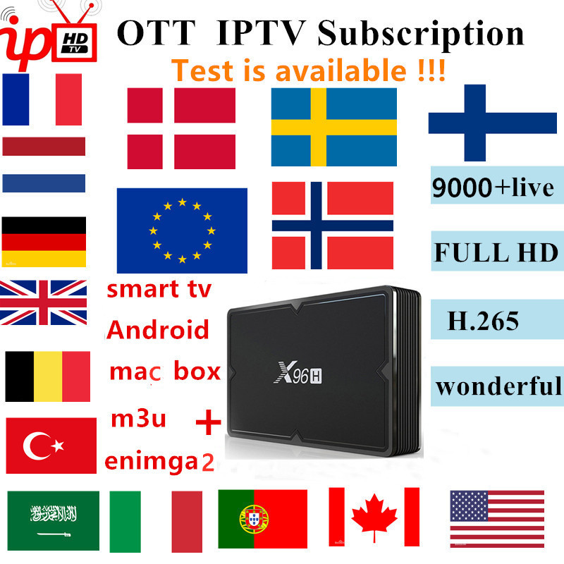 French KING OTT IPTV Subscription For Francais Arabic Spanish Portugal Channel Support Adult M3u Enigma2 Android TV Box Iptv Box