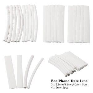 20 sztuk biały 3/4:1 rurki termokurczliwe bluzka z rękawami drut izolacja elektryczna sleeving dla iPhone iPad linia danych rurki termokurczliwe