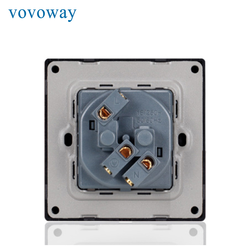 Image 5 - Vovoway power wall socket tempered glass panel AC110V 250V 16A EU standard socketElectrical Sockets   -