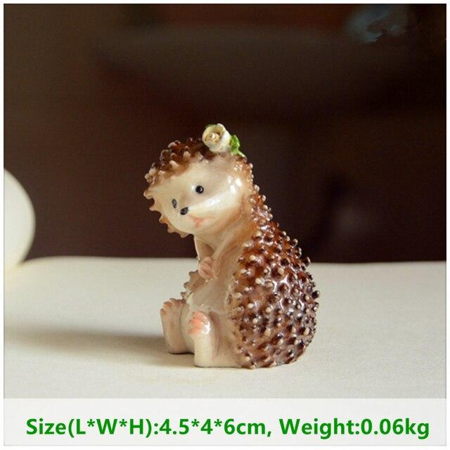 Everyday Collection Mini Fairy Garden Decoration Hedgehog Animal Figurine Ornament Tabletop Balcony Home Decor 5
