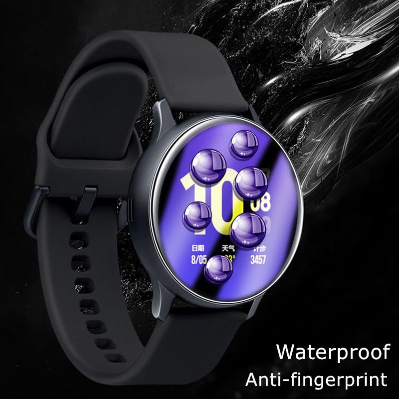 Soft Protective film For Samsung Galaxy watch active 2 Screen Protector 3D HD Ultra-thin watch Active2 44mm 40mm Accessories