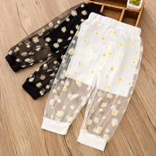 Fashion Summer 2021 Girls Kids Loose Pants Thin Anti-mosquito Pants Toodler Flowers Leggings Casual Baby Children Wide Pants 1-6