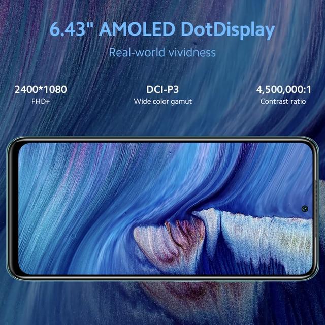 Xiaomi redmi nota 10 4gb 64gb/128gb smartphone versão global snapdragon 678 amoled display 48mp quad camera 33w 3