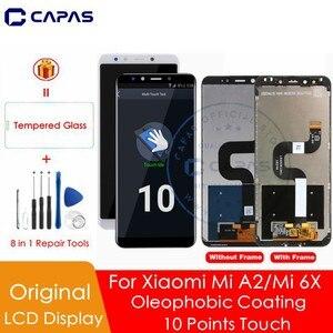 Image 1 - Original For XIAOMI Mi A2 LCD Display Digitizer 10 Touch Screen For XIAOMI Mi 6X LCD Digitizer Replacement Repair Repair Parts