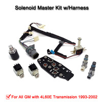 1set Of 4L60E Transmission Master Solenoid Kit W/Harness For 1993 2002 PWM (99139) High Quality|Automatic Transmission & Parts|   -