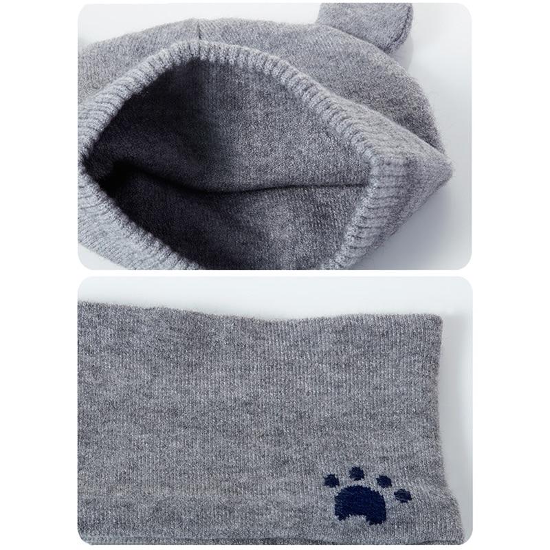 Baby Winter Caps Scarf Suits Warm Knitted Beanie Cap Cute Cartoon Bear Beanie HSJ88