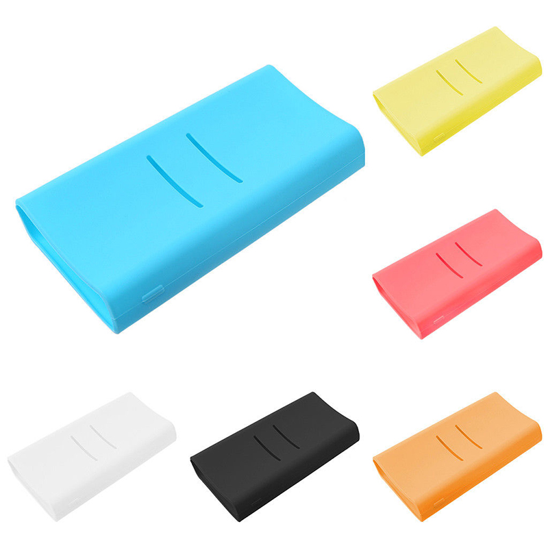 Full Protective Case Cover For <font><b>Xiaomi</b></font> <font><b>mi</b></font> <font><b>2C</b></font> <font><b>20000mAh</b></font> Fashion Colorful Anti-slip Soft Silicone <font><b>Power</b></font> <font><b>Bank</b></font> Bag Accessories image