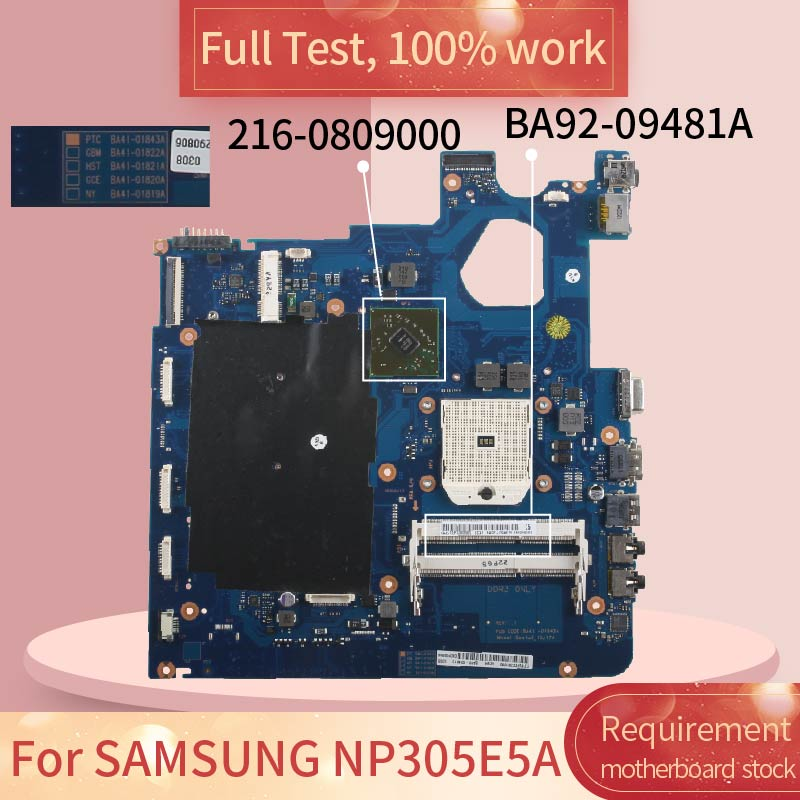 For SAMSUNG NP305E5A BA41-01843A BA92-09481A 216-0809000 Notebook motherboard Mainboard full test 100% work image