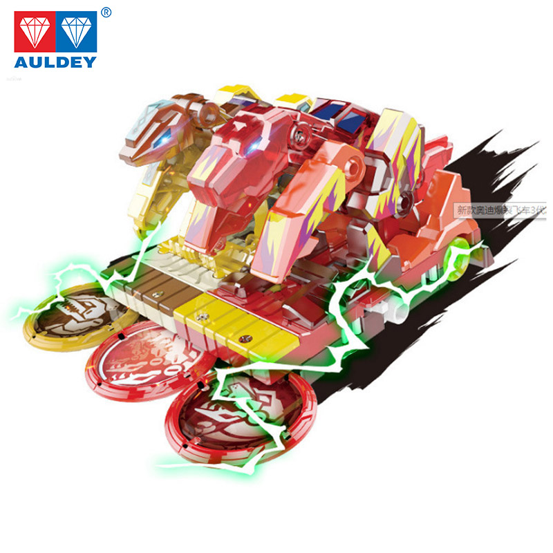 New Design Screechers wild Level 3 Vehicle <font><b>2</b></font> cars Capture 3 coins 360 rotate <font><b>Transformation</b></font> AULDEY Genuine <font><b>toy</b></font> gift for kid girl image