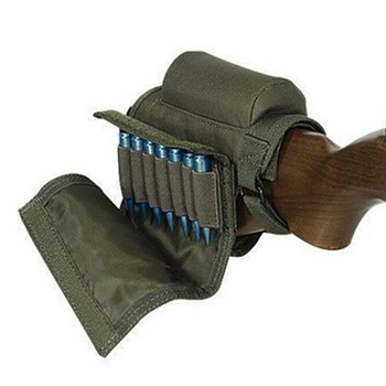 Tactical Rifle Cases Cheek Rest Riser Ammo Cartridges Hunting Carrier Canvas Pouch Round Cartridge Bag Shell Buttstock Ammo 6