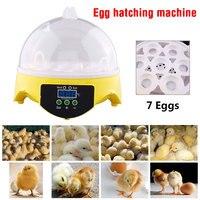Digital Mini Egg Incubator Poultry 7 Eggs Brooder Tools Chicken Duck Egg Hatcher Bird Hatcher Brood Machine Pet Supplies