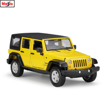 Maisto 1:24 Jeep Wrangler buggy simulation alloy car model crafts decoration collection toy tools gift maisto 1 24 2017 chevrolet calvert simulation alloy car model crafts decoration collection toy tools gift