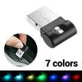 Мини USB СВЕТОДИОДНЫЙ Автомобильный светильник s неоновый светильник s для межкомнатных дверей светодиодная атмосфера декоративная лампа ав...