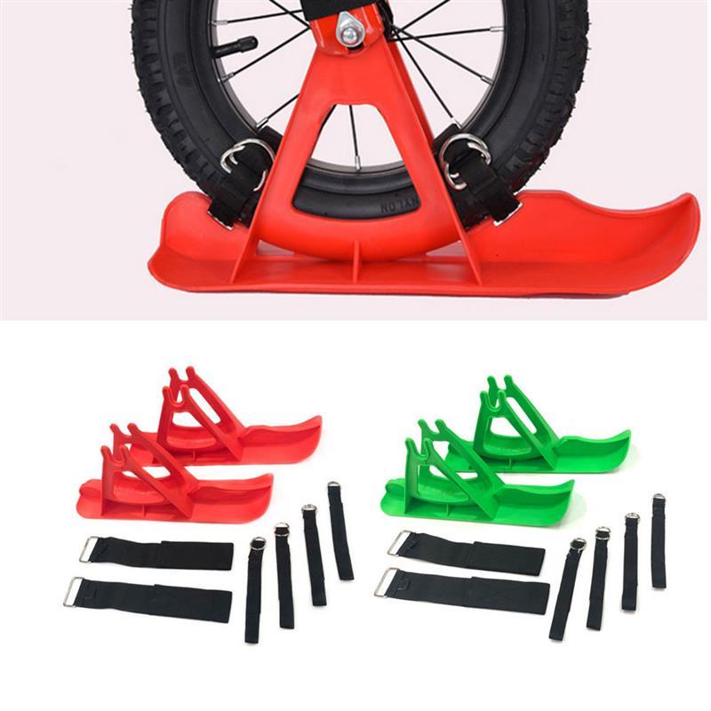 Children Snowboard Snow Sledge Board Set For 12 Inches Balance Bike Scooter Parts Training Bike Skiing Walker