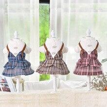 Одежда для домашних животных на осень и зиму, платье принцессы, одежда для собак, новая милая одежда для домашних животных на две ноги синего, розового, желтого цвета, одежда для собак