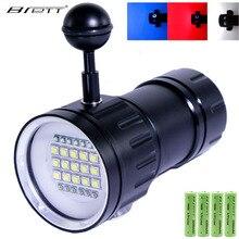 LED Tauchen Taschenlampe Unterwasser 100m Wasserdichte Taktische Taschenlampe Highlight 20000Lumen 6x XHP90 Lampe Perle Fotografie Video Licht