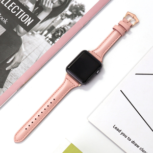 Genuine Leather strap for apple watch band 44mm 40mm 42mm 38mm iwatch bracelet series 5 4 3 2 1 bracelet watchband Accessories