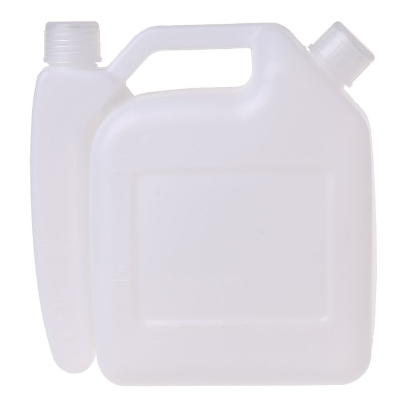 1.5L Litre 2-Stroke Petrol Fuel Oil Mixing Bottle Tank For Trimmer Chainsaw Tools Parts 1:25 40JE