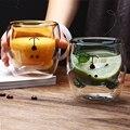 3D 2-tier Schöne Panda Bär Innovative Bier Gläser Wärme-beständig Doppel Wand Kaffee Tasse Morgen Milch Glas weihnachten geschenk tassen