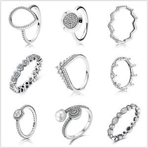 Silver Ring Pave Logo Signatur