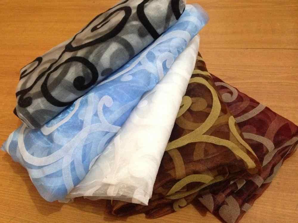 Kuulee 1X2.7M ファッションホームエレガントな装飾薄手のカーテン、パネル、ウィンドウトリートメントやドレープ 1 個、コーヒー