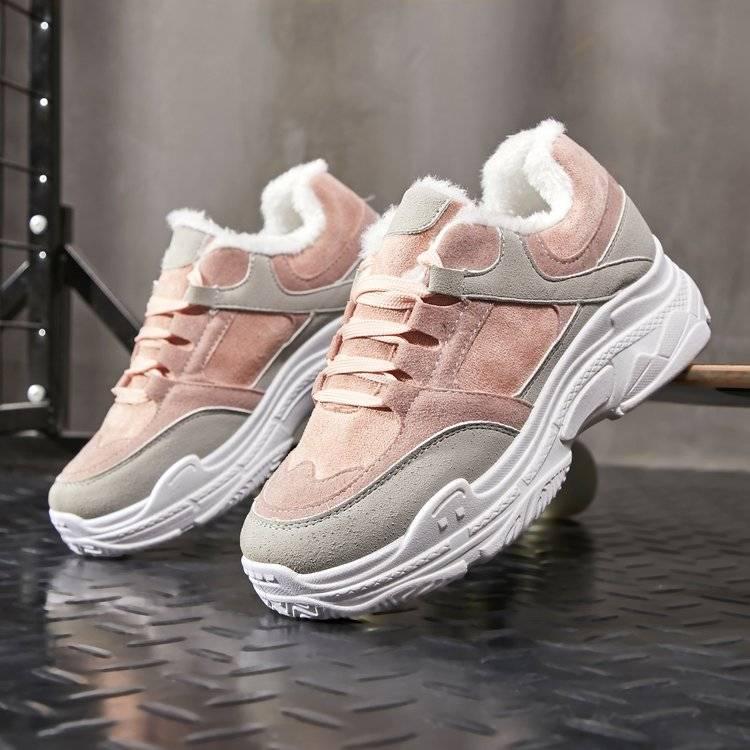 Autumn Shoes Woman Chunky Sneakers Lace Up Women Walking Platform Ladies Flats Vulcanized Shoes Comfort Winter Women's Footwear