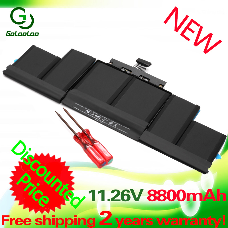 "A1494 Laptop Battery 11.26V 8800mah 99Wh For Apple MacBook Pro 15"" Retina A1398 ME239 ME294 A1494 (2014 2013)"