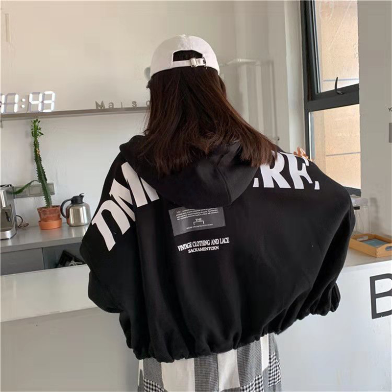 Hoodie Women Tops Jacket BF Style Female Casual Sweatshirt Autumn Long Sleeve Streetwear Oversize Korean Ulzzang Kawaii Coat