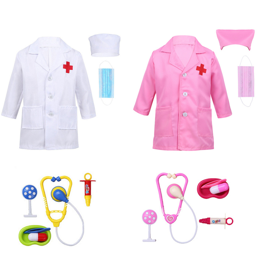 Stage Wear Halloween Children's Day Doctor Nurse Uniform Cosplay Costumes Student Kids Birthday Gift Role-play Fancy Clothes