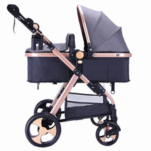 High landscape stroller can sit reclining stroller bb baby stroller folding two-way shock child stroller