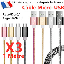 For Chargeur Micro Usb Cable Usb Universel Android Pour Ps4 Metal RenforcE X1x2x