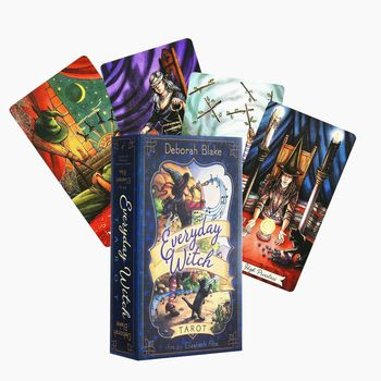 Codzienne karty tarota czarownic angielski Tarot Deck etykieta na stół gry planszowe zestaw pudełek gry karty do gry rozrywka gry rodzinne tanie i dobre opinie