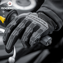 ROCKBROS Cycling gloves SBR 6mm Thickened Pad Shockproof Breathable GEL Bike Gloves Men Women Full Finger Sport MTB Gloves