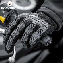 ROCKBROS rękawice rowerowe SBR 6mm zagęszczony Pad odporne na wstrząsy oddychające żelowe rękawice rowerowe mężczyźni kobiety pełne Finger sportowe rękawiczki MTB