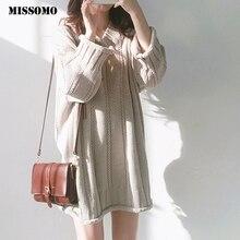 MISSOMO Oversize sweater dress women dresses Casual V-Neck K