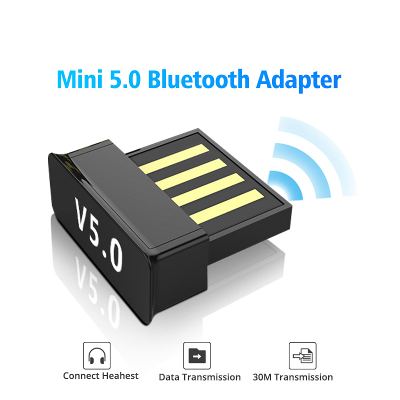 FONKEN 2in1 USB Bluetooth 5.0 Adapter PC Accessories Tablet Car Audio Music Receiver TV USB Dongle Bluetooth Earphone Adapter 6