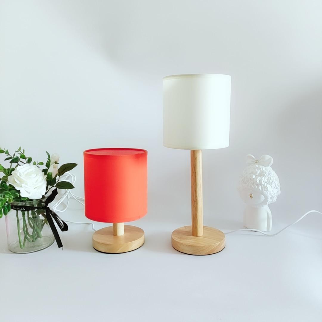 Новый корейский винтажный абажур Xianfan из твердой древесины, настольная лампа для спальни, гостиной, USB-лампа, рабочая настольная лампа, светильник