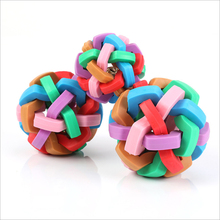 Rubber-Ball Puzzl-Toys Training Pet-Cat-Products Kittens with Bell for Dog Molar-Color
