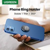 Ugreen-Soporte de anillo para teléfono móvil, rotación de 360 grados, para iphone 11, 12, Xiaomi, Samsung y Huawei