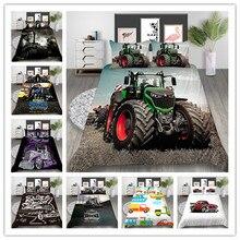 Набор постельного белья с 3d принтом автомобилей для мальчиков, набор пододеяльников, новые товары, один двойной размер, подарки для детей