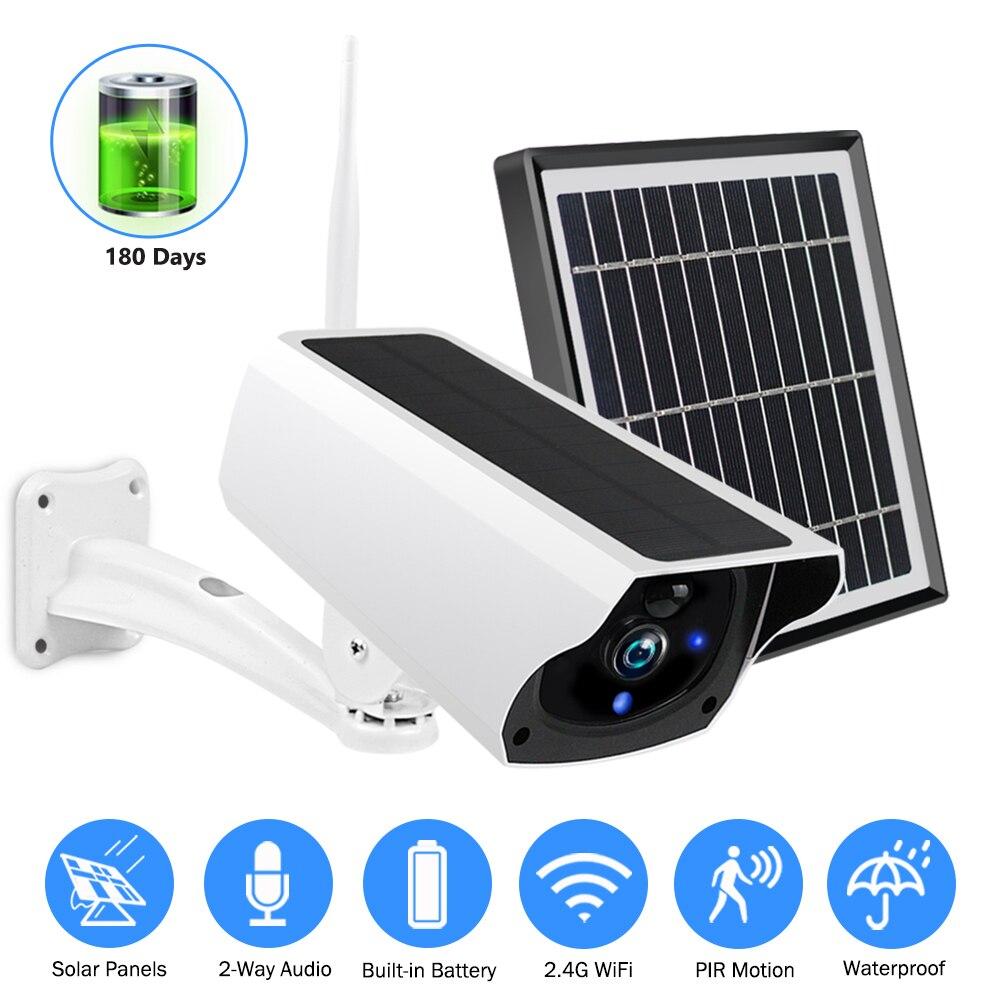 Ip-Camera Charging-Battery Bullet Solar-Wifi Motion-Detection Surveillance-Cctv Outdoor