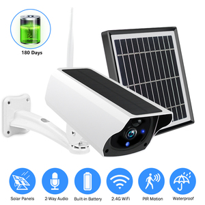Solar WiFi IP Camera 1080P HD Outdoor Charging Battery Wireless Security Camera PIR Motion Detection Bullet Surveillance CCTV(China)