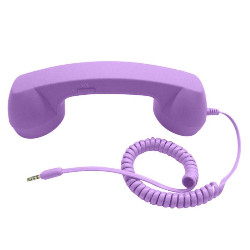 Универсальные Ретро радиационные телефонные наушники для телефонных звонков - Цвет: Фиолетовый